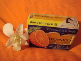 Bennett Natural Skin Soap Orange Rind Extracts Vitamin E & C Protect Acne - $8.00