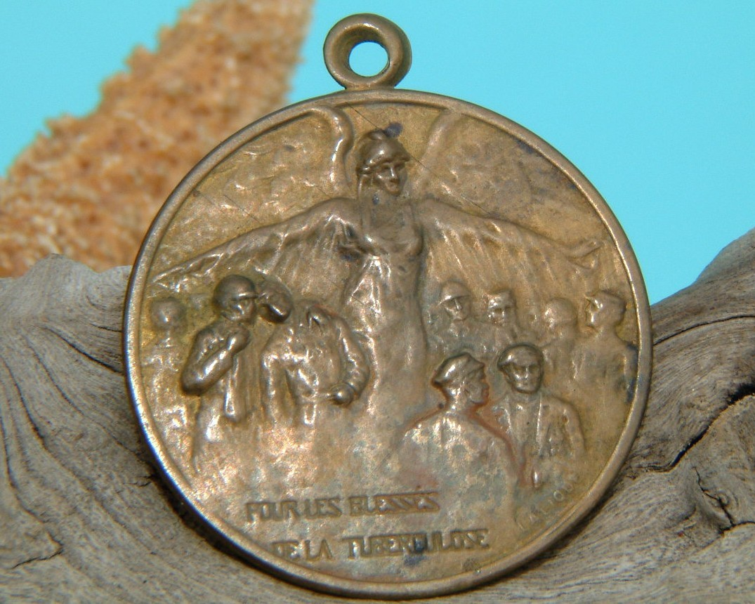 Rene lalique 1917 medallion tuberculosis wwi france