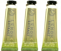 3 Bath & Body Works Travel Lemon Extract Gel Hand Cream 1 Oz New - $13.29