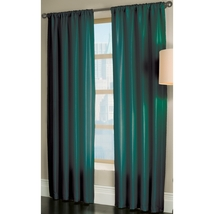 allen + roth Florence 84-in L Solid Teal Rod Pocket Window Curtain Panel - $23.77