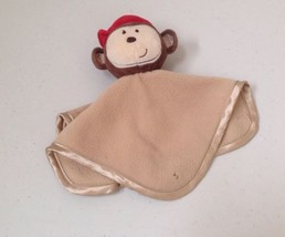 Just Born Tan  Brown Monkey Mini Security Blanket Lovey Lovie Clutch Sat... - $35.26 CAD