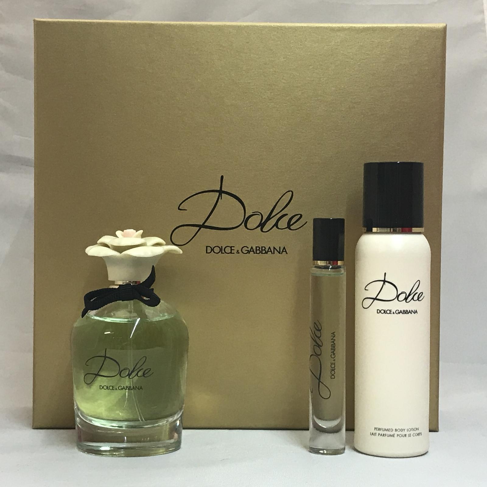 Dolce by Dolce & Gabbana 3PCs Women Set, 2.5 + 0.25 + 3.3oz perfumed body lotion image 3