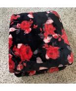 Victoria's Secret Bold Floral Sherpa Blanket 50x60 - $59.00