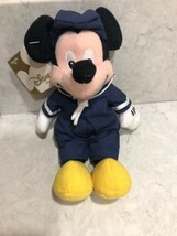 "Disney Bean Bag Plush - SAILOR MICKEY Mickey Mouse 8"" Stuffed Animal Plu... - $14.95"