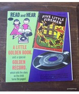 Vintage Five Little Fireman Read and Hear Book ... - $20.00