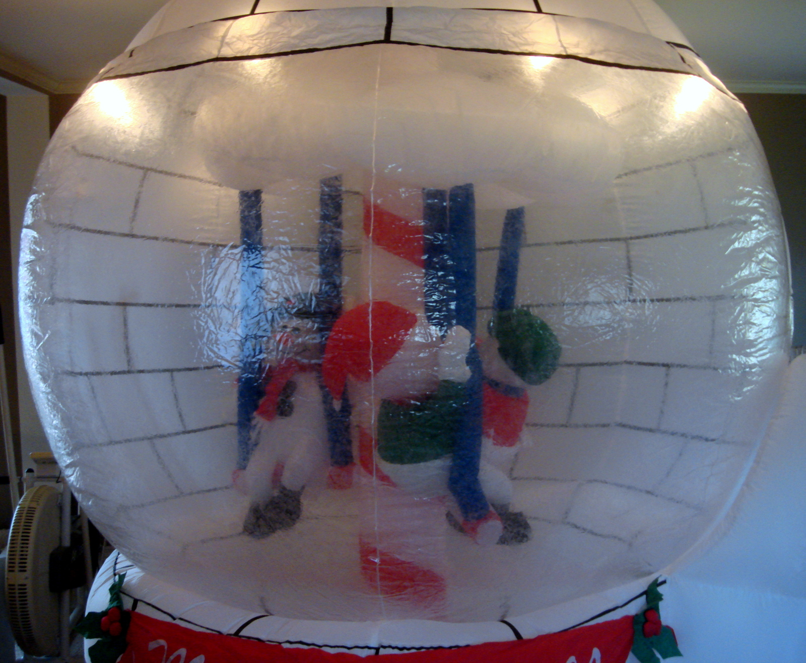 Gemmy airblown inflatable 8ft snow globe carosel holiday for Airblown decoration