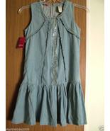 Guess Big Girls Sleeveless, Ruffled Light Denim Dress,Size XL. NWT  - $27.99