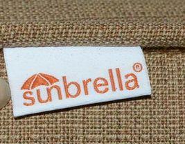 Hanamint Sunbrella Outdoor Dining Cushion Linen Straw Color Set of 4 image 3
