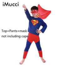 Kids Halloween Costumes Supper Man Boys Girls Cosplay Fancy Dress Top+Pa... - $10.99