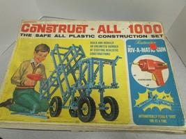 Vtg Transogram 1966 Construct-All 1000 Estupendo para Piezas Caja Completa - $12.36