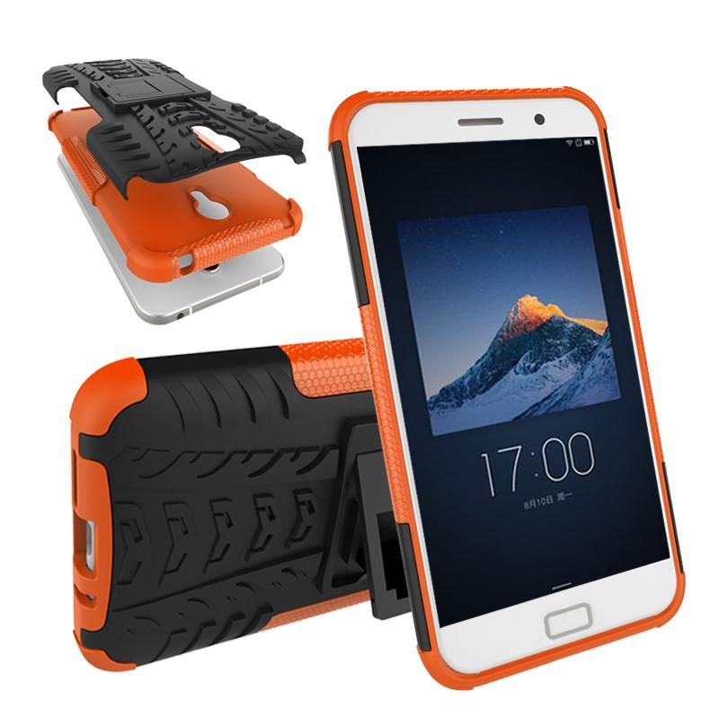 Dual Layer Shockproof Armor Case Kickstand Cover For Lenovo zuk Z1 - Orange