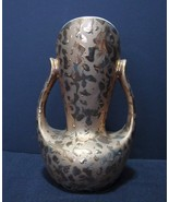 Tactile, Luxurious Looking  Double Handled Vase in 24 Kt  Weeping Gold - $30.00