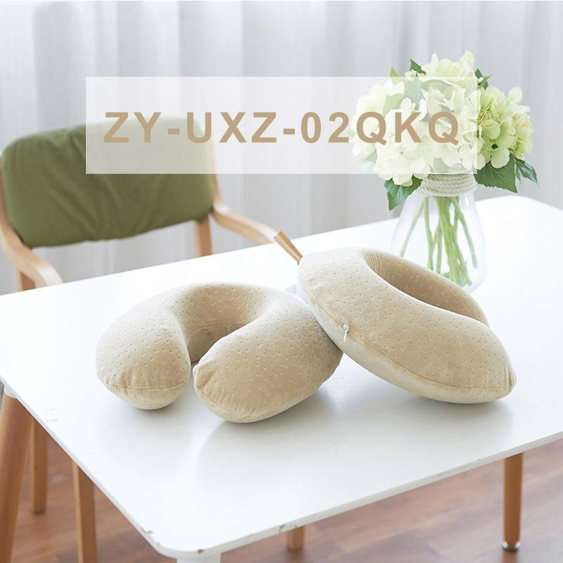 U Shaped Neck Soft Travel Pillows Slow Rebound Space Memory Foam Bus Airplane