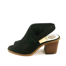 Vince Camuto Womans Kailsy Suede High Heel Sling Back Sandals Black 8.5W EUR 39  - $39.59