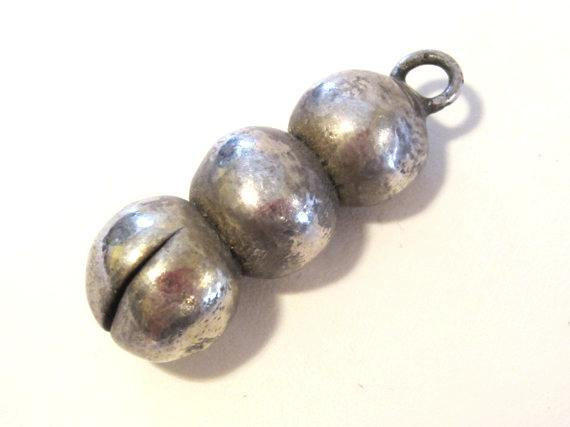Vintage sterling silver 925 Puffy pendant