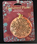 "Enchanted Planet  2"" Diameter Shell Pendant NEW - $9.99"