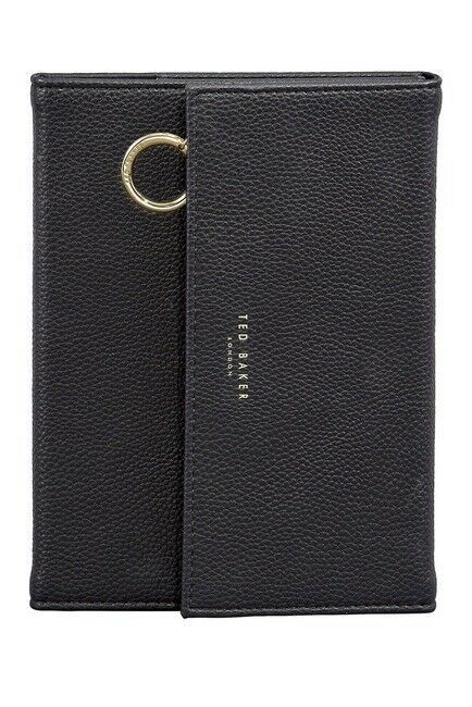 Primary image for New Ted Baker London Notebook with Pencil Case Leather Black