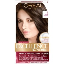 L'Oreal Excellence Creme Triple Protection Color - #4 Dark Brown  - $10.99