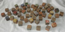 antique children's wood blocks 53 blocks  3 different styles - $37.05