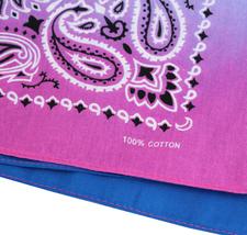 "12 Pack Gradient Rainbow Cotton Head Wrap Scarf Bandana Ombre Colors 22"" X 22"" image 5"