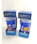 2 Brand New Brita Kids Water Bottle Soft Squeeze Blue 13 oz. Filter Inside - €6,86 EUR