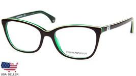 New Emporio Armani Ea 3053 5351 Brown / Green Eyeglasses Frame 52-17-140 B39.8mm - $68.30