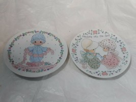 "vintage Precious Moments 1992 Miniature 4"" Plates Lot of 2 Friendship Love Heart - $17.42"