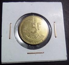Belgian franc 1986 5 F coin Free Shipping No 4 - $2.97