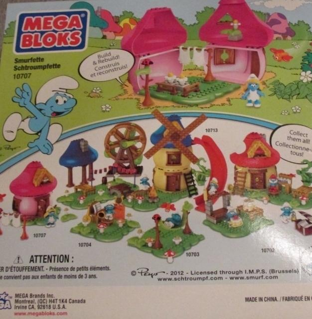 Mega Bloks Smurfette Playset Smurfs Smurfette's House 29 Pieces #10707 NEW