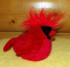 "K & M Audubon Bird Plush 6"" Red Beak Black Mask Northern Cardinal w/ Sound - $9.89"