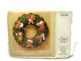 The Creative Circle 2330 Holiday Christmas Felt Kit Teddy Bear Wreath NE... - $25.24
