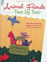 Animal Friends Two by Two Noah's Ark Afghan Toys HoWB Knitting Pattern NEW - $3.57