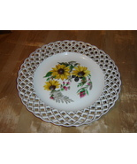 Porcelain handmade  Weave Lace Decorative Plate - $32.40