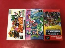 Super Famicon Mario Rpg / Yoshi Island / Mario Kart Sfc Retro Snes Soft Pcs 3 - $109.38