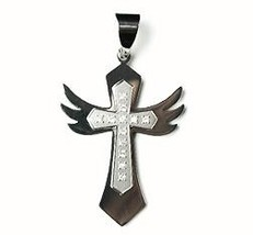 QC41 Dalimara Energized Cross Pendant with Wings Crystals Energy chips -... - $22.95