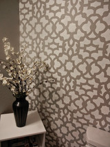 Moroccan Stencil Zamira Long, reusable stencil for walls not wallpaper - $42.95
