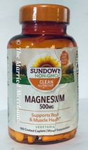 Sundown Naturals Magnesium 500 mg 180 caplets each 12/2023 FRESH! - READ - $10.88