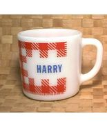 Coffee Mug with name HARRY Red White Checkered ... - $8.20