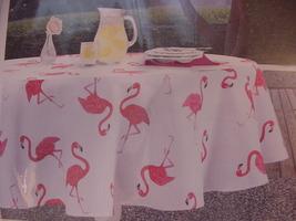 Envogue Pink Flamingo Indoor/Outdoor Tablecloth 60 x 102 Oblong - $38.00