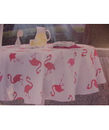 Envogue Pink Flamingo Indoor/Outdoor Tablecloth 60 x 102 Oblong - $38.00