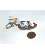 Bros Bugs Bunny IN Barca W/ Festa Cappello, Pesca Rete Portachiavi Anello - $9.03