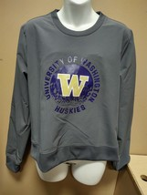 Adidas Washington Huskies Crew Sweatshirt Womens Small Gray GG2889 - $28.50
