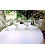 Set of 4 Fostoria Century Pattern Clear Champagne Glasses - $36.62