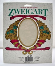 "Zweigart Linda 27 Count Cross Stitch Fabric Ivory Cotton 14""x18"" New Old Stock - $12.30"