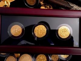 3 PIECE BOX SET GLASS DIPLAY CASE PERU & MEXICO GOLD 8 ESCUDOS COB TREAS... - $899.00