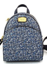AUTHENTIC NEW NWT MICHAEL KORS $248 ABBEY BLUE WHITE FLORAL XS BACKPACK - $1.789,84 MXN