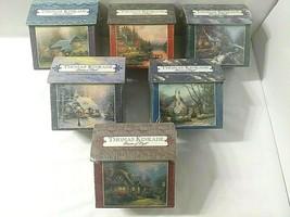 Vtg 1998 Set of 6 Thomas Kinkade 100 Pc Miniature Jigsaw Puzzles NEW SEALED - $49.45