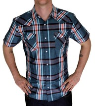 BRAND NEW LEVI'S MEN'S CLASSIC CASUAL PEARL BUTTON UP PLAID SHIRT 3LYSW6062-TUR