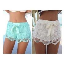 Lace & Ribbon Shorts - $14.99