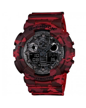 New Casio G-Shock GA-100CM-4A Red Camouflage Dial Men's Watch  - $149.56